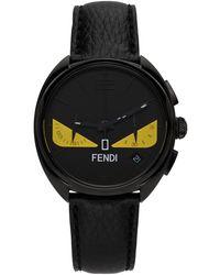 Fendi ブラック Momento Bugs クロノグラフ 腕時計