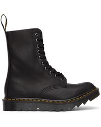 Dr. Martens ブラック Made In England Ripple 1490 ブーツ