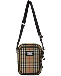 Burberry Sac messager beige Freddie - Multicolore