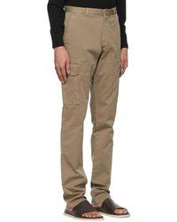 Isaia Pantalon cargo brun ajusté - Marron