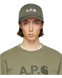 A.P.C. - Carhartt Wip Edition カーキ キャップ - Lyst