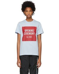 Opening Ceremony - Blue Box Logo T-shirt - Lyst