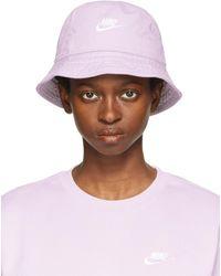 Nike Purple Sportswear Bucket Hat - Brown