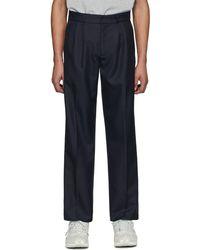 GR-Uniforma Navy Classical Suit Trousers - Blue