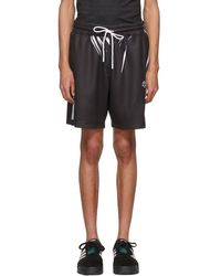 Alexander Wang - Black And White Drawcord Shorts - Lyst