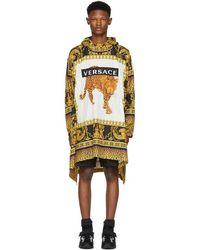 Versace - Multicolour Animalier Anorak Coat - Lyst