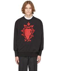 Alexander McQueen ブラック Painted Heart スウェットシャツ