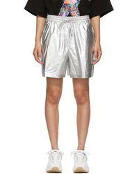 Juun.J Silver Thealteredtech Cargo Shorts - Metallic