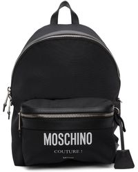Moschino ブラック Couture! バックパック