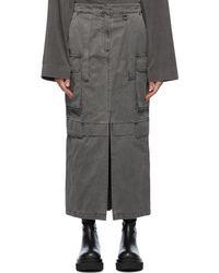 Juun.J Maxi Cargo Skirt - Grey