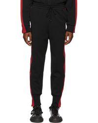 Miharayasuhiro - Pantalon de survetement noir et rouge Side Stripe - Lyst