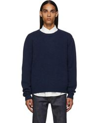 A.P.C. Navy Pullover Sweater - Blue