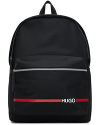 HUGO ブラック Record Rl バックパック