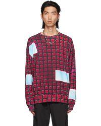 Dries Van Noten Black Len Lye Edition Print Sweatshirt - Red