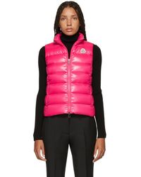 a5f9aae68715 Moncler - Pink Down Ghany Vest - Lyst