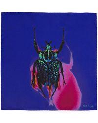 Paul Smith - ブルー シルク Photographic Beetle ポケット チーフ - Lyst