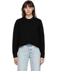 Alexander Wang ブラック Drape Back セーター