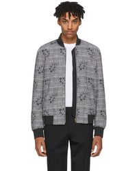 Paul Smith - Black Princes Of Wales And Paisley Bomber Jacket - Lyst