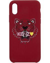 KENZO Etui pour iPhone X rose Tiger edition limitee - Multicolore