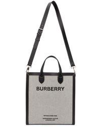 Burberry グレー Horseferry Kane トート - ブラック