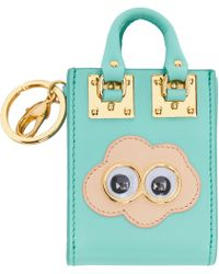 Sophie Hulme | Ssense Exclusive Blue Cloud Albion Tote Keychain | Lyst