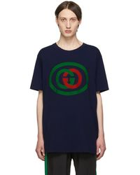 Gucci Oversize T-shirt With Interlocking G - Blue