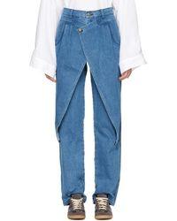 69 - Blue Front Flap Jeans - Lyst