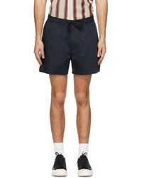 Tiger Of Sweden Navy Twolum Shorts - Blue