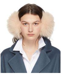 Yves Salomon Pink Fur Earwarmers