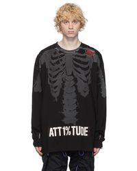 99% Is T-shirt à manches longues noir Reflective Skull
