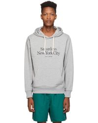 Saturdays NYC Grey Embroidered Miller Standard Ditch Hoodie - Gray