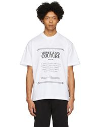 Versace Jeans - ホワイト Warranty ラベル T シャツ - Lyst