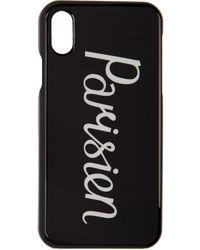 Maison Kitsuné ブラック Parisien Iphone X ケース