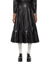 Moncler Genius 6 Moncler Noir Kei Ninomiya ブラック ナイロン フラワー スカート