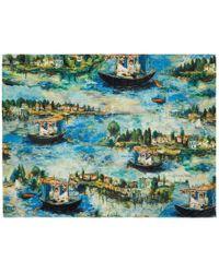 Off-White c/o Virgil Abloh Multicolor Lake Beach Towel - Blue