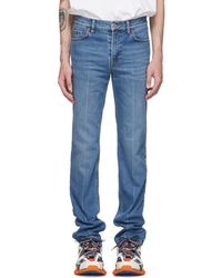 Balenciaga - Blue Authentic Jeans - Lyst