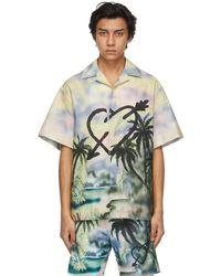 Palm Angels マルチカラー Paradise ボウリング シャツ - グリーン