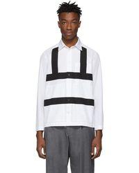 Craig Green ホワイト And ブラック ハーネス シャツ