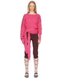 Kiko Kostadinov Pink Bellatrix Wrap Jumper