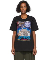 Doublet Embroidered Retro Poster T-shirt - Black