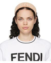 Fendi Pink Logo Headband - Multicolor