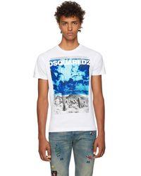 DSquared² - White Chic Dan Graphic T-shirt - Lyst