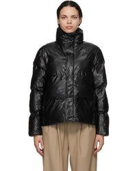 Rains ブラック パッド Boxy ジャケット