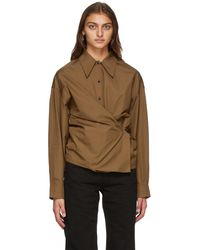 Lemaire ブラウン ツイスト シャツ