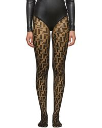 Fendi Black Forever Tights