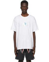 A Bathing Ape T-shirt blanc Relaxed Aurora Logo