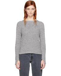 Won Hundred - Grey Cropped Jasmina Sweater - Lyst