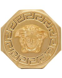 Versace Gold Medusa Ring - Metallic