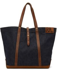 RRL Cabas howard en coton - Bleu