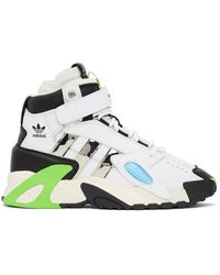 Sankuanz Black And White Adidas Edition Streetball Forum Trainers - Multicolour